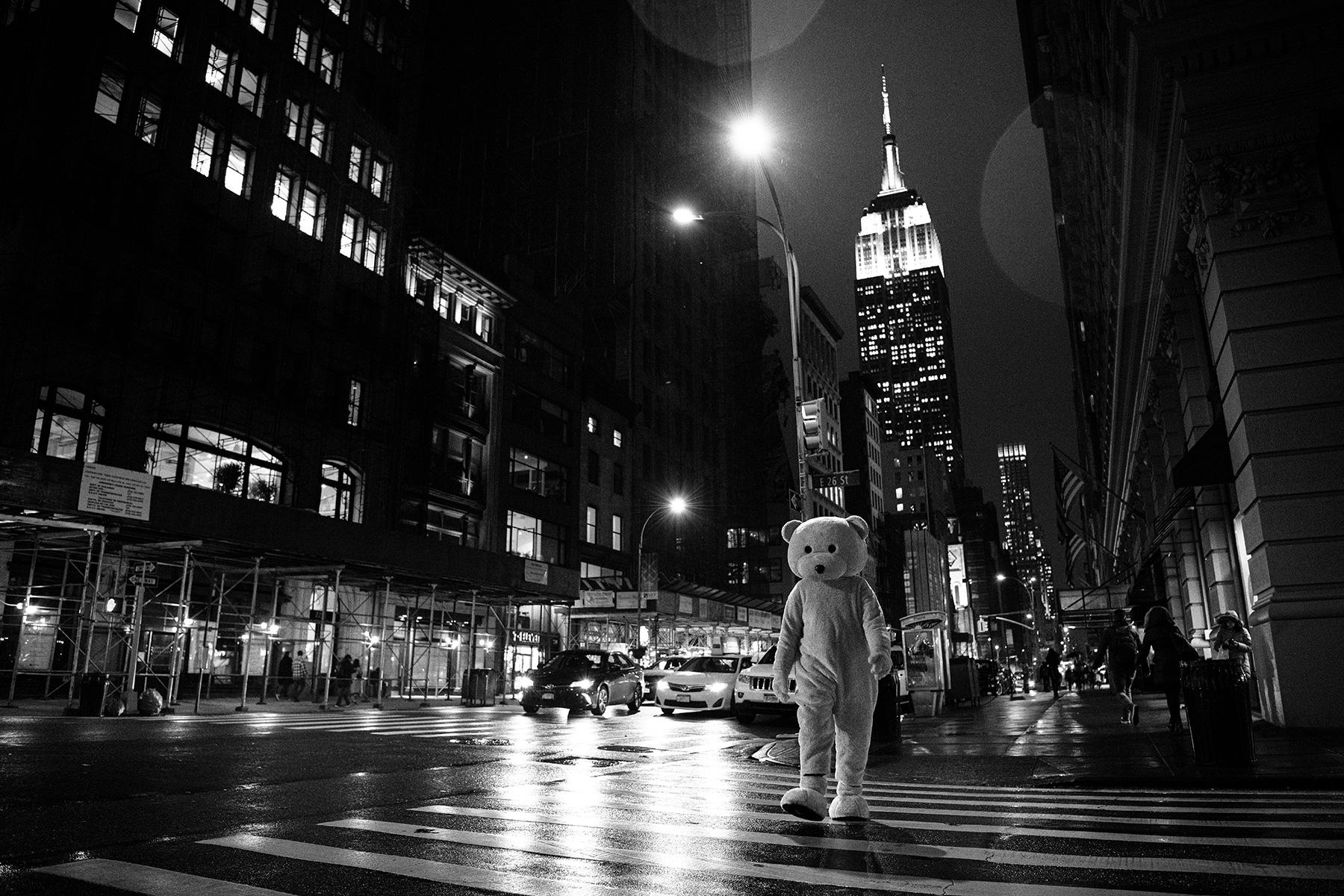 New York, New York - Pink Bear