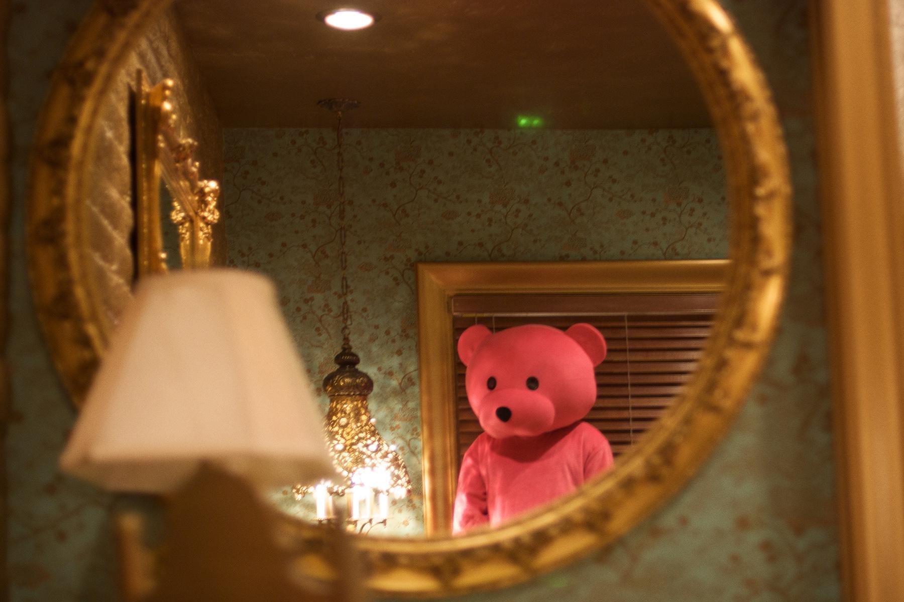 pink bear at the madonna inn in california, LA, USA