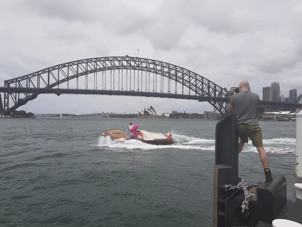 The ultimate Pink Bear prop - luxury speed boating in Sydney Harbour