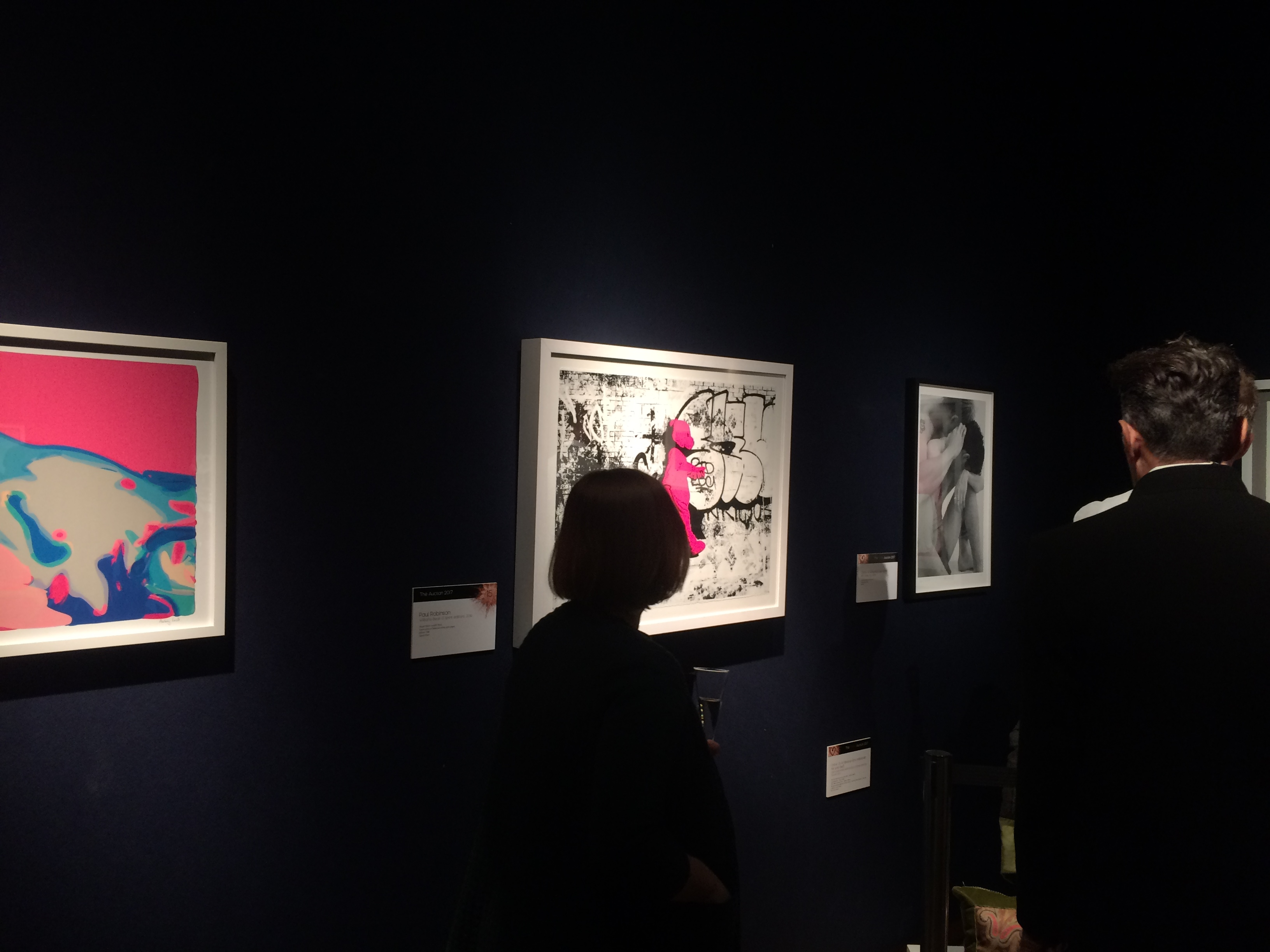 The print was exhibited at Christie's main auction house on Kings Street.