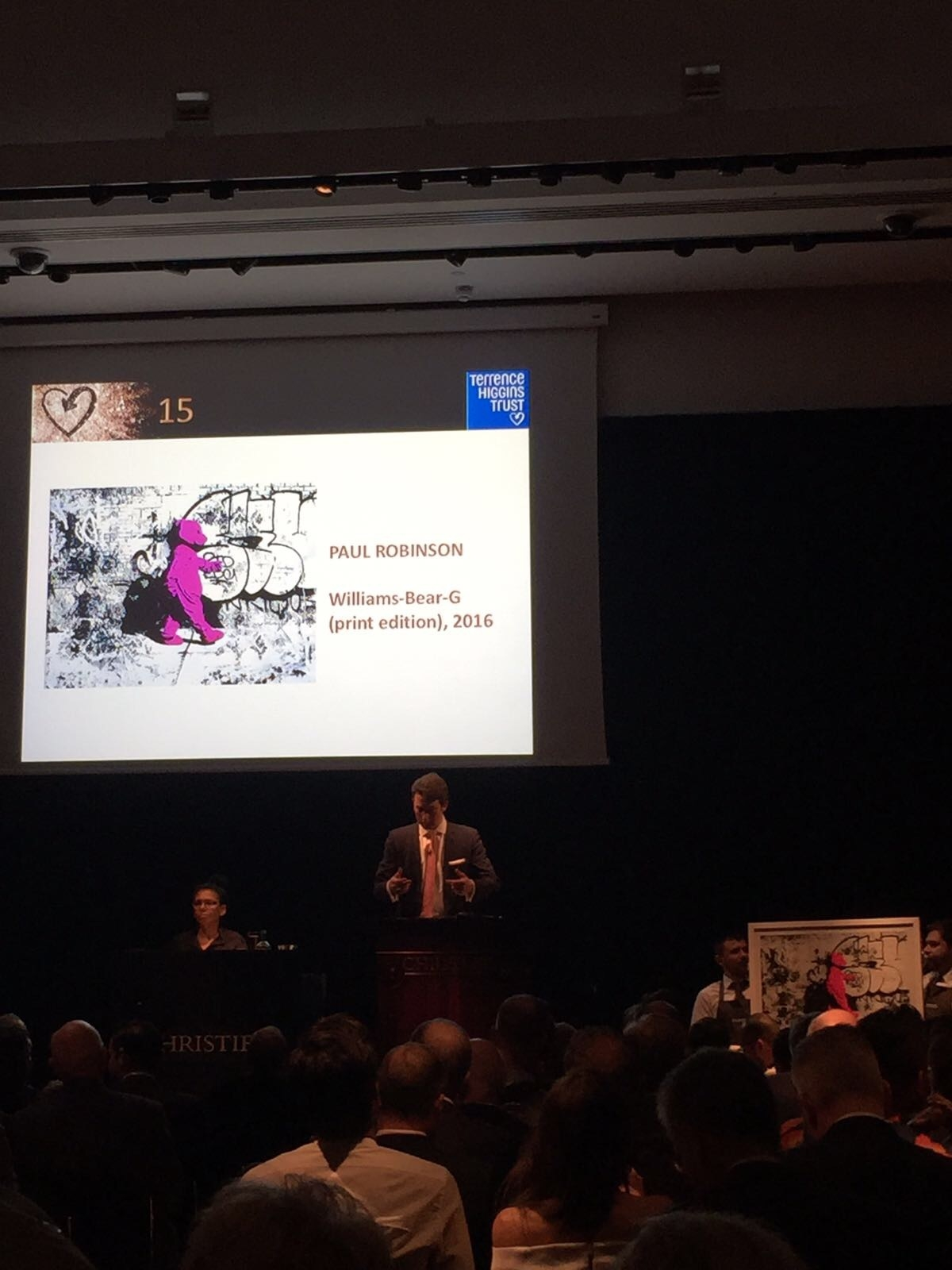 The Pink Bear up for auction at Christie's