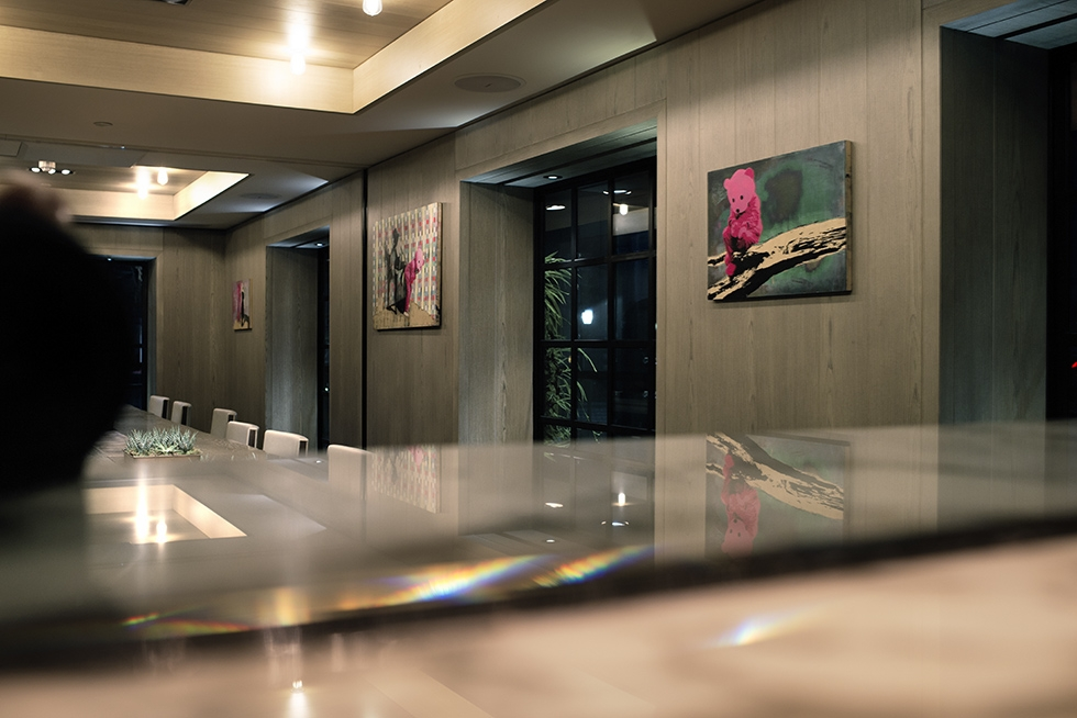 The Pink Bear is exhibited in Room 100 at Belgraves London