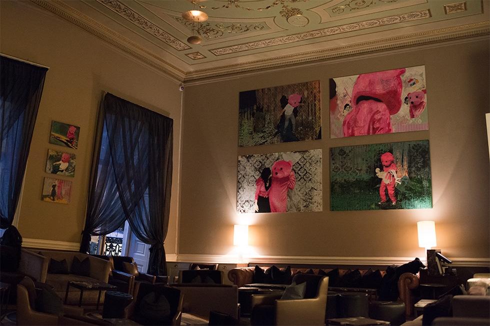 Home House Pink Bear