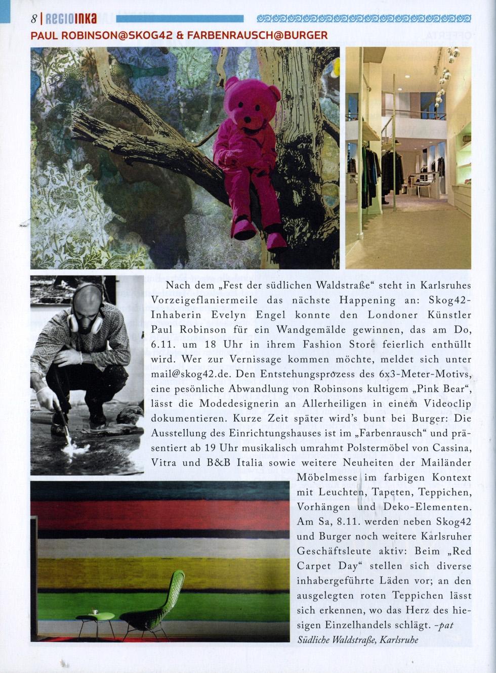 Paul Robinson featured in Regio Inka