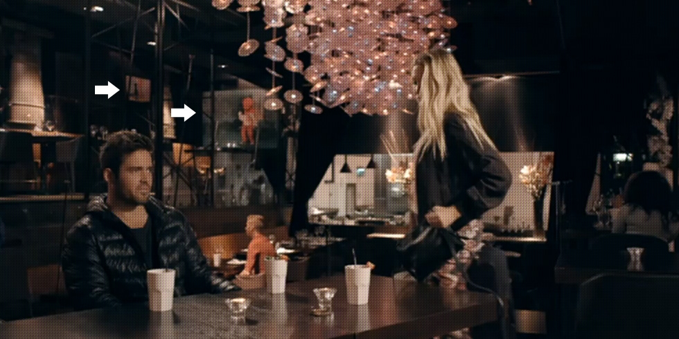Made In Chelsea - The pink bear spotted on tv in the back at yaneff at DSTRKT london.