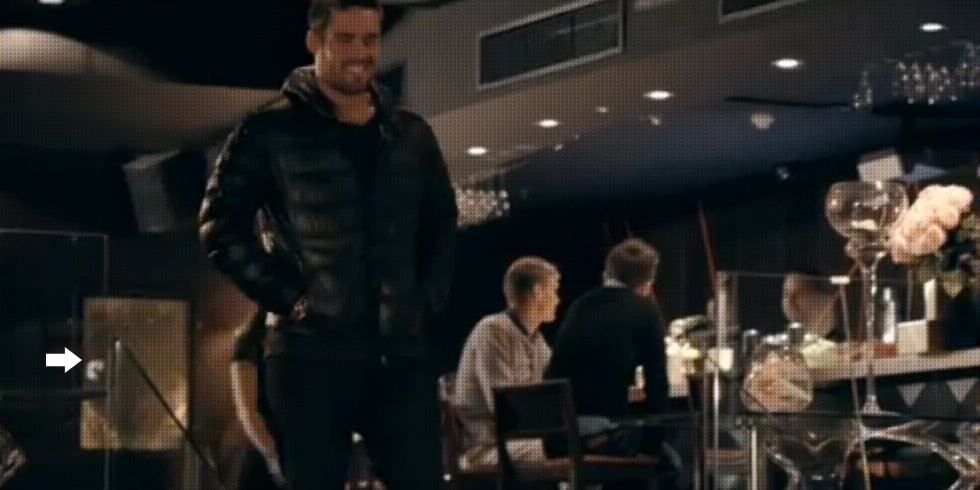 Made In Chelsea - spencer next to decadence at DSTRKT london club