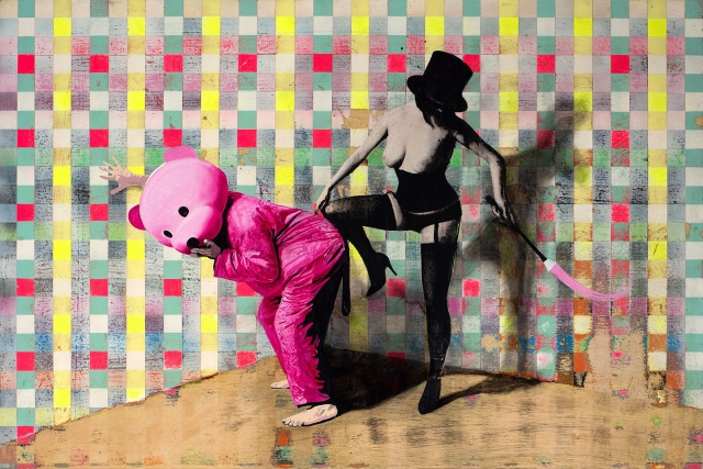 Domina - Pink Bear with dominatrix