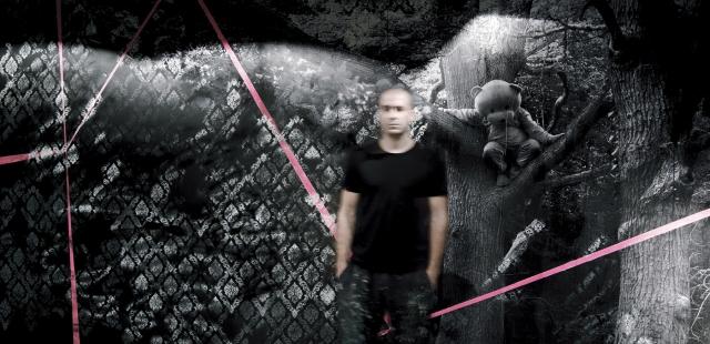 My finished Pink Bear mural at DSTRKT