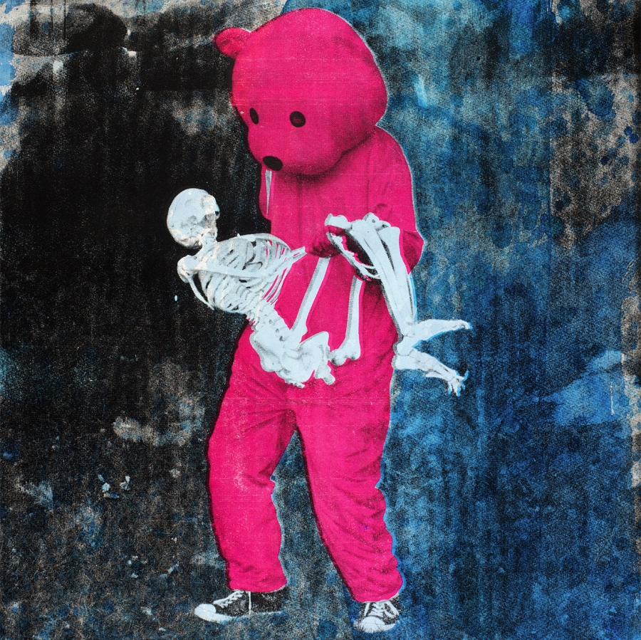 Cara Delevingne selects Paul Robinson's Pink Bear print for art4animals.