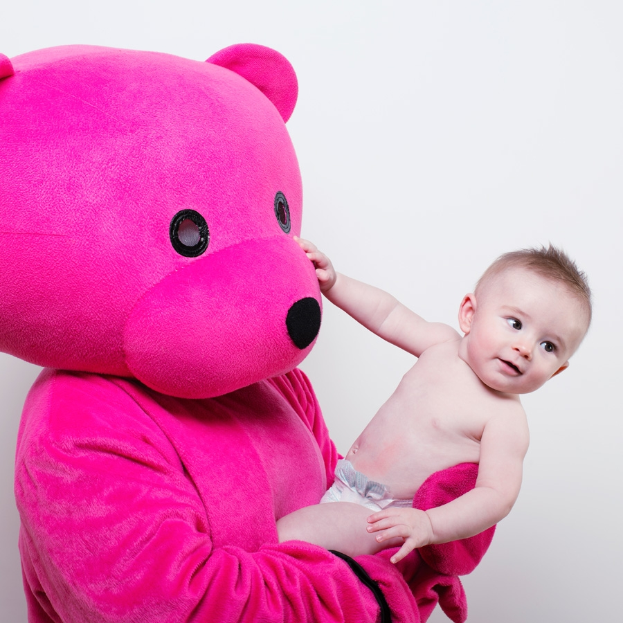One Man and Two Little Babies - Baby Photography in London